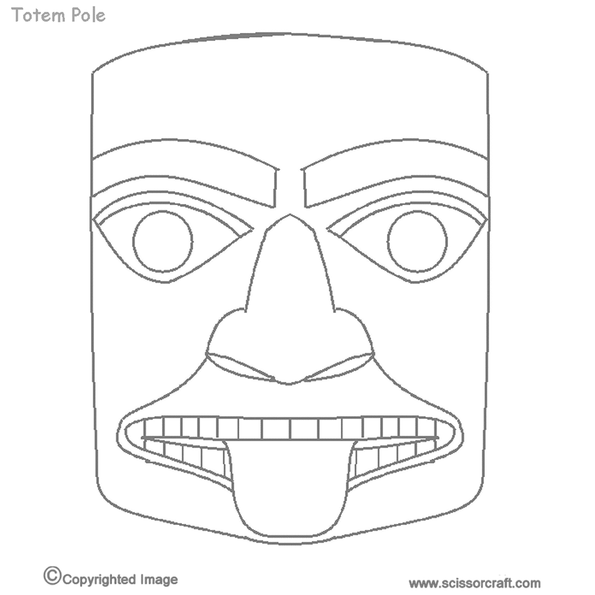 Printable Totem Pole Animals