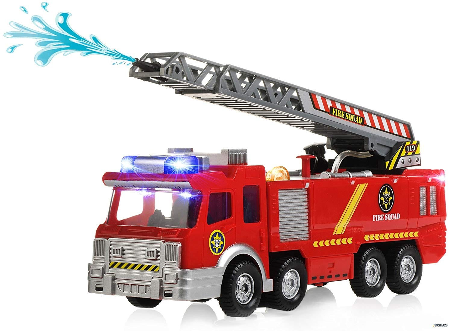 Amazon Com Memtes Electric Fire Truck Toy With Lights And