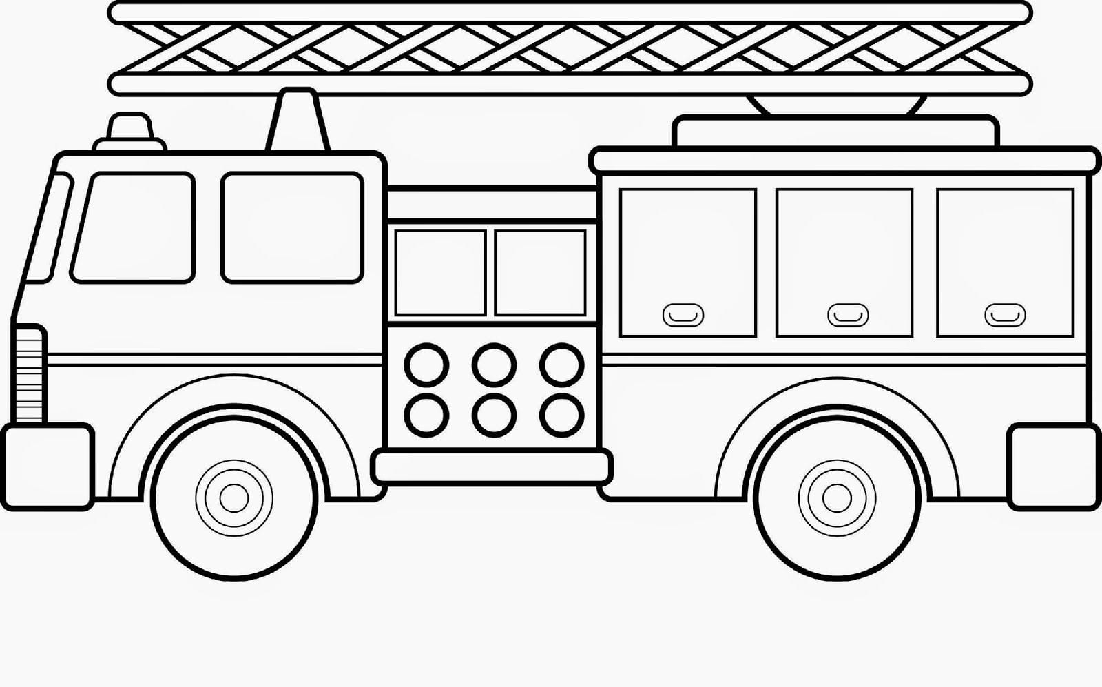 Free Printable Fire Truck Coloring Pages For Kids Neo