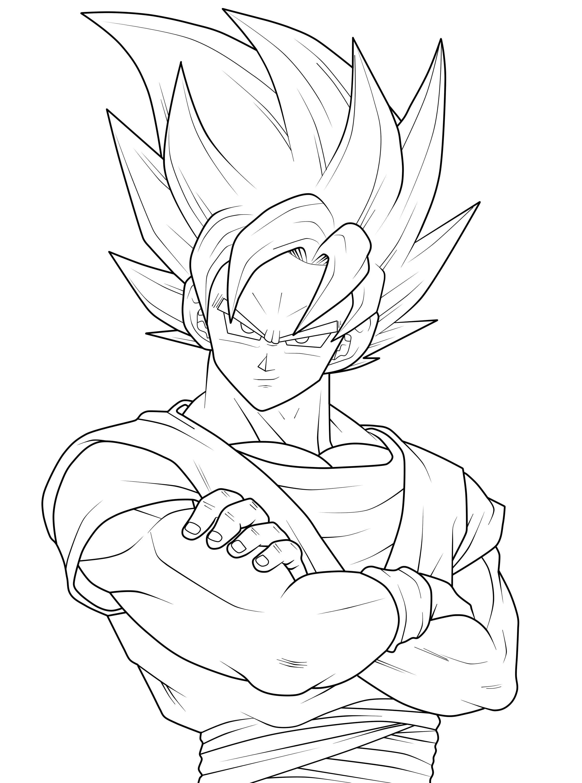Goku Coloring Pages Fresh Super Saiyan Copy Within Neo Coloring