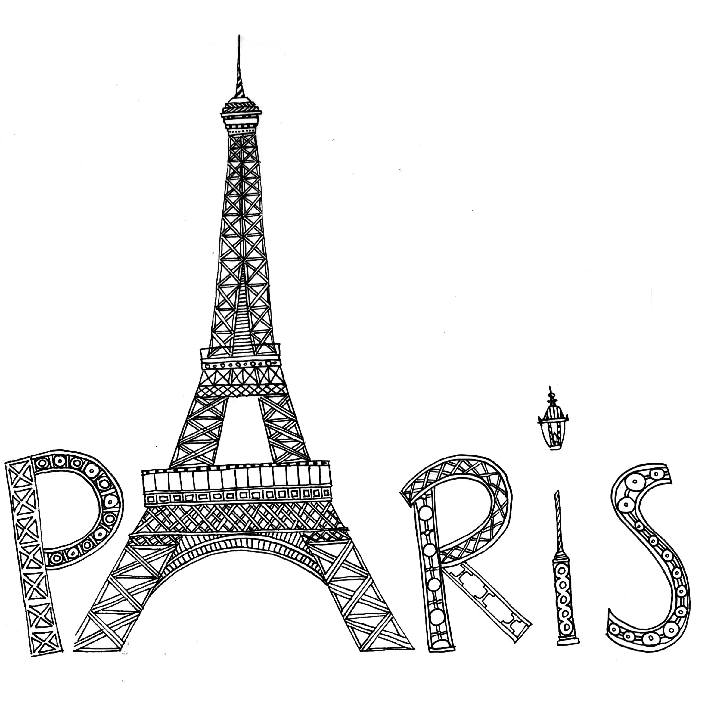 Printable Paris Coloring Pages With Wallpaper Hd For
