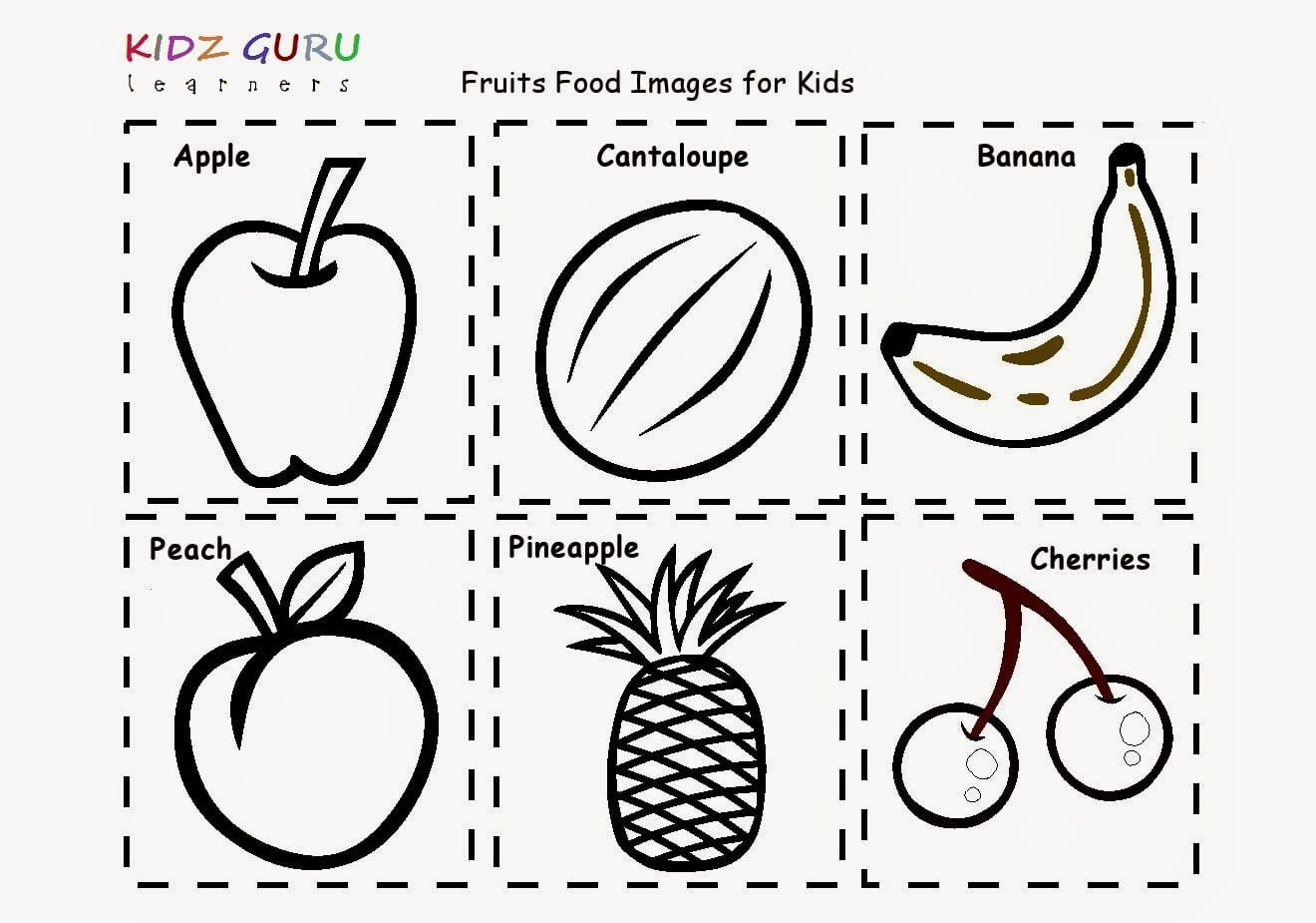 Food Worksheet For Kindergarten