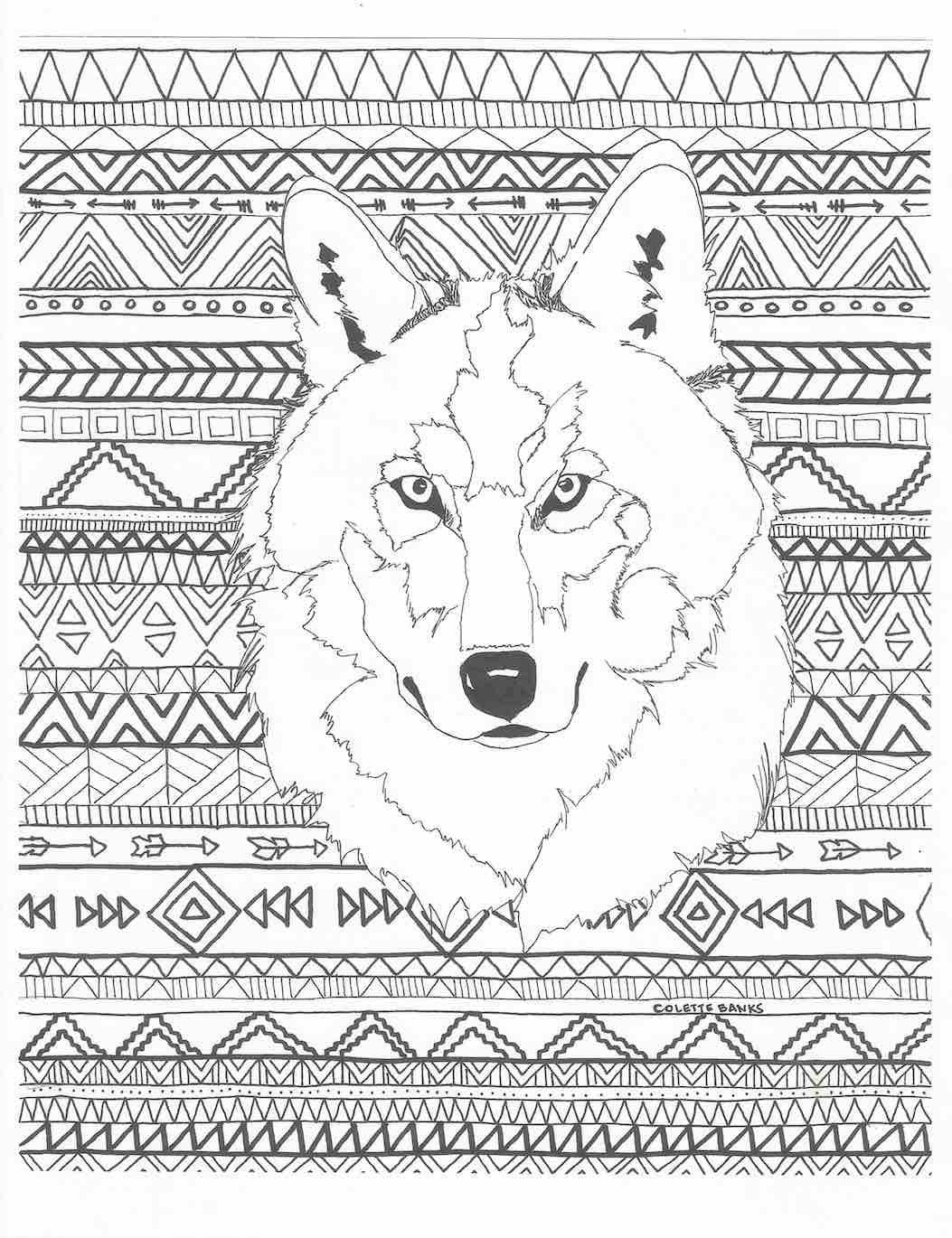 Aztec Adult Printable Coloring Page Of A Navajo And Native