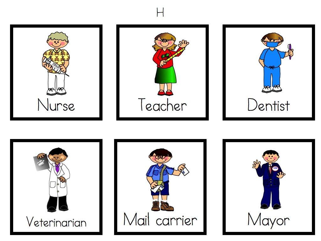 Community Workers Preschool Worksheets