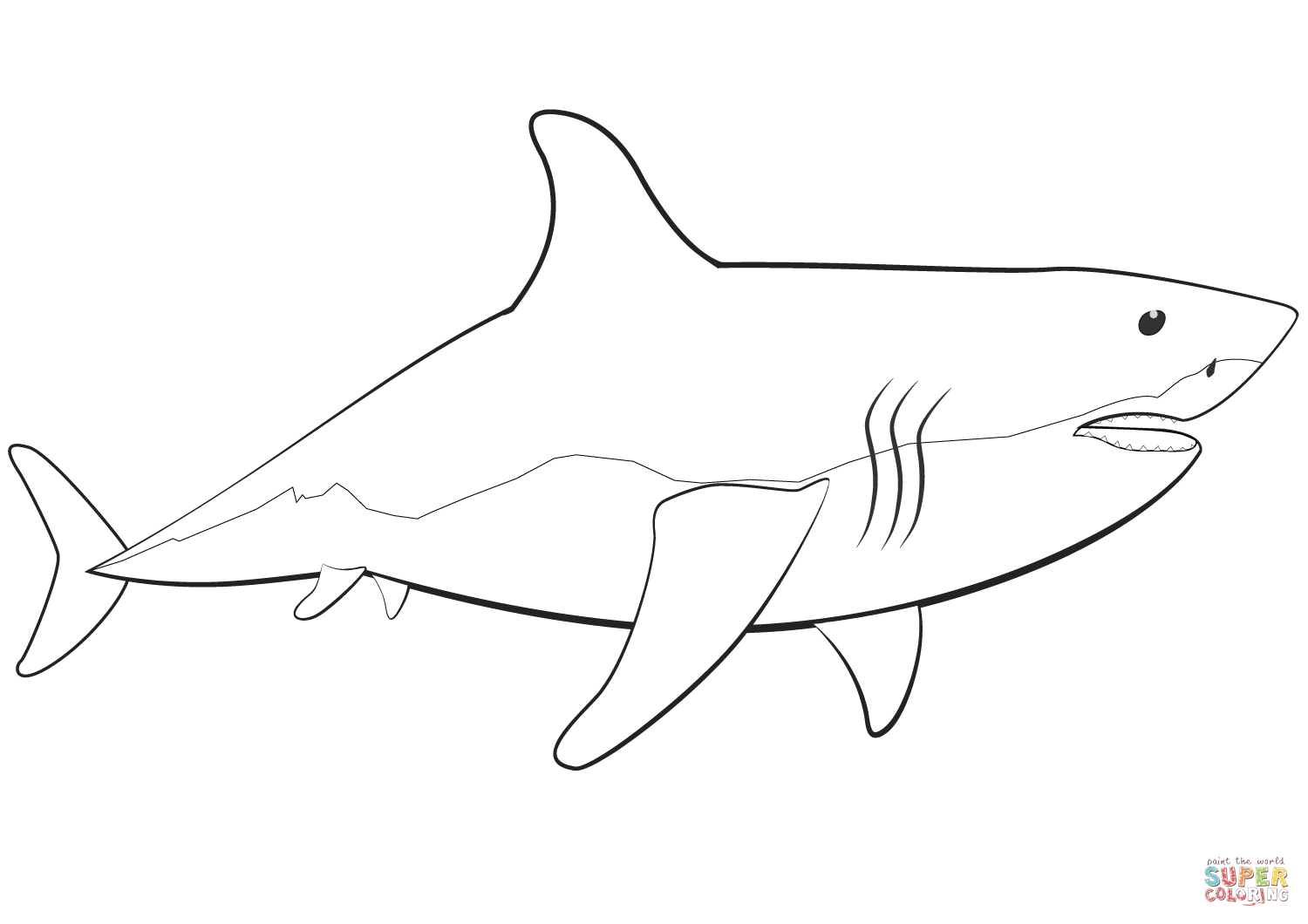 Great White Shark Printable Pictures
