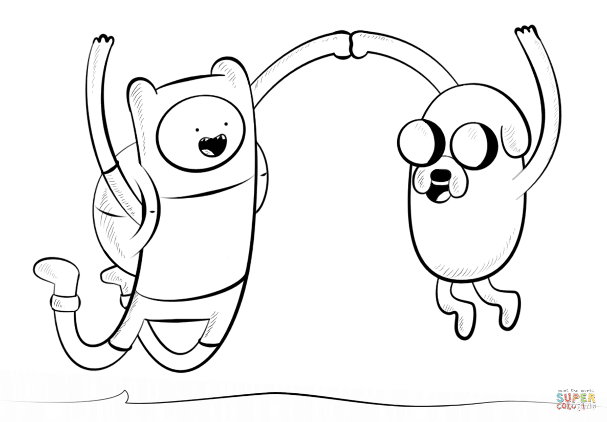 Adventure Time With Finn And Jake Coloring Pages To Print