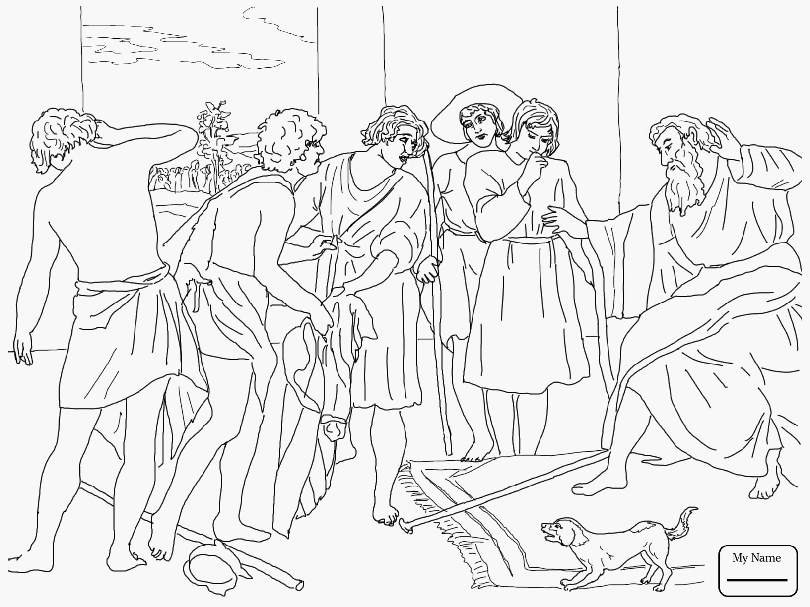 Joseph Sold Into Slavery Coloring Pages Esau Neo Coloring