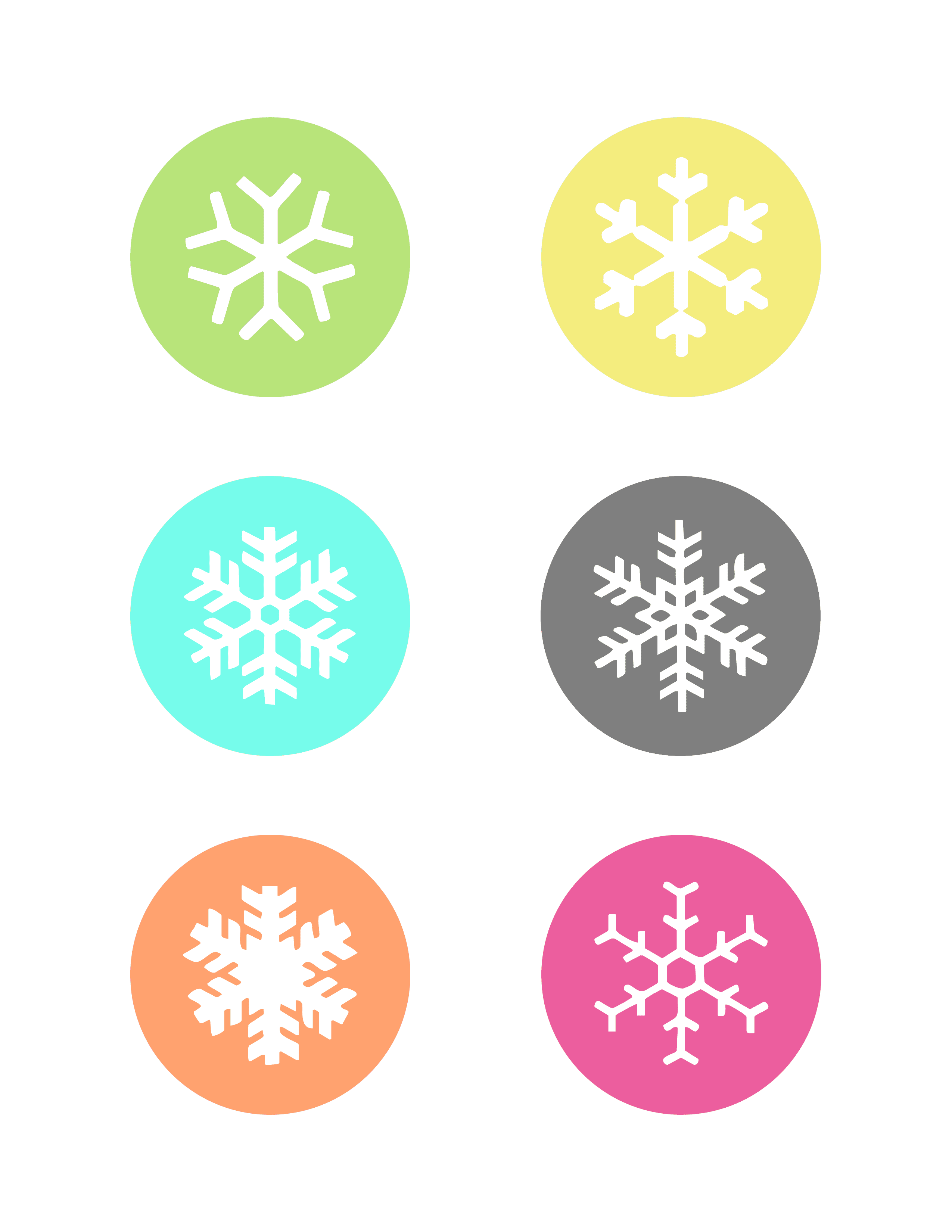 Printable Snowflake Patterns To Color