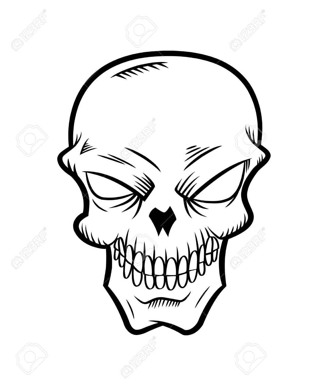 Cartoon Skull Royalty Free Cliparts Vectors And Stock