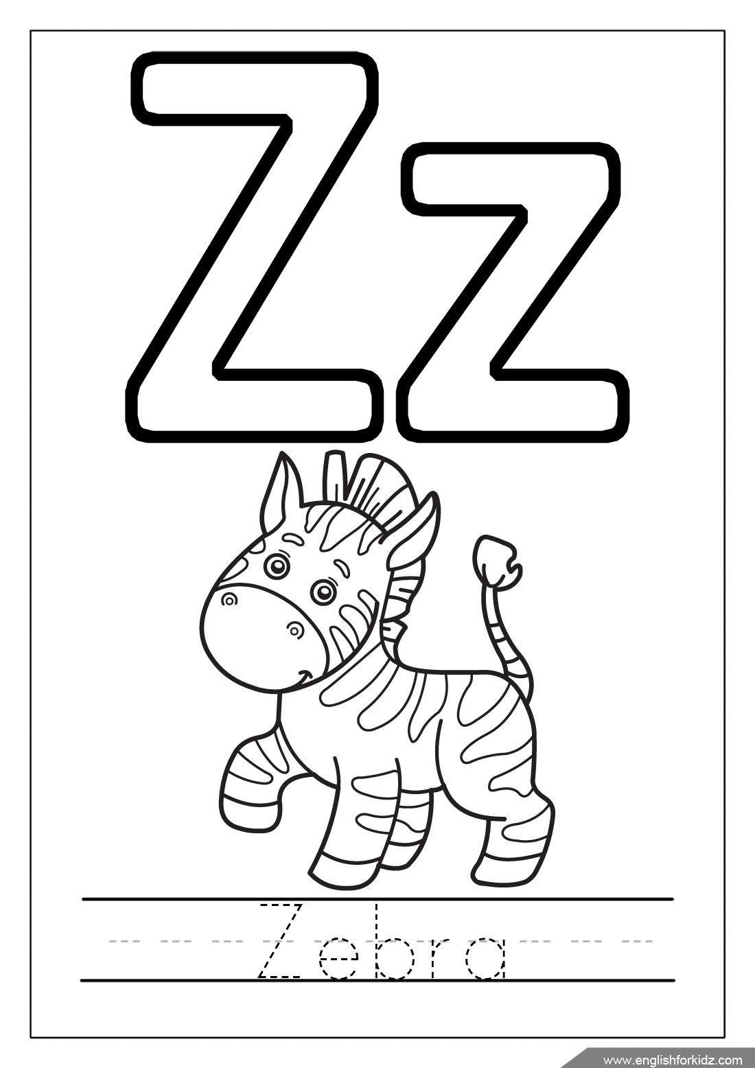 A To Z Animals Coloring Pages