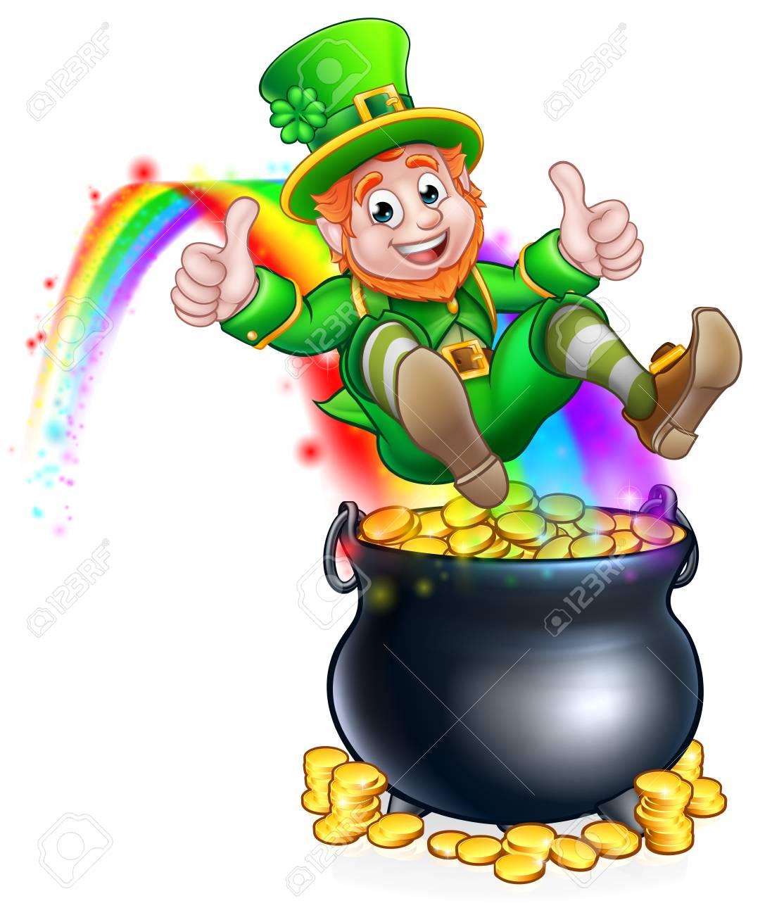 Leprechaun Rainbow Pot Of Gold