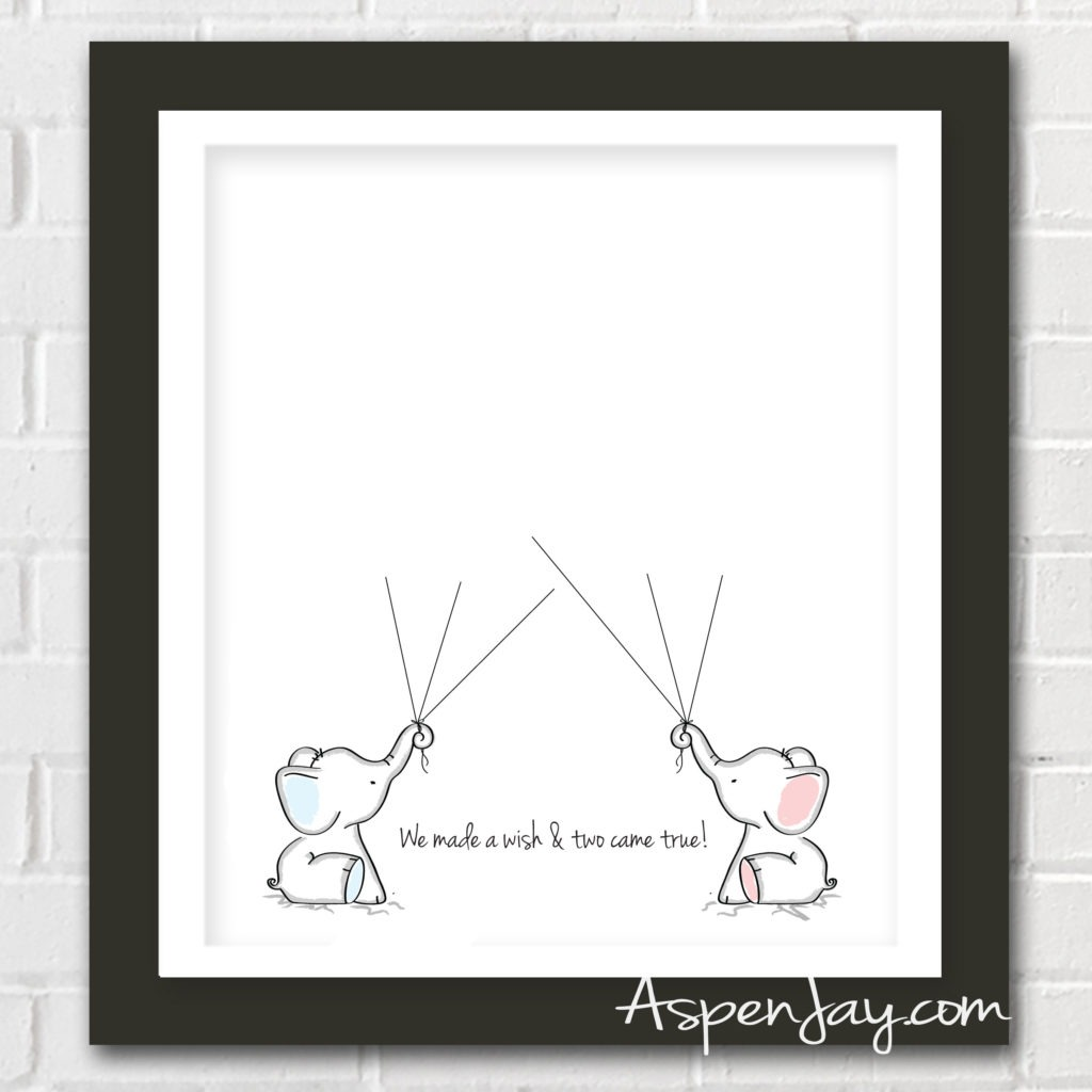 Elephant Baby Shower Guest Book Printable Neo Coloring