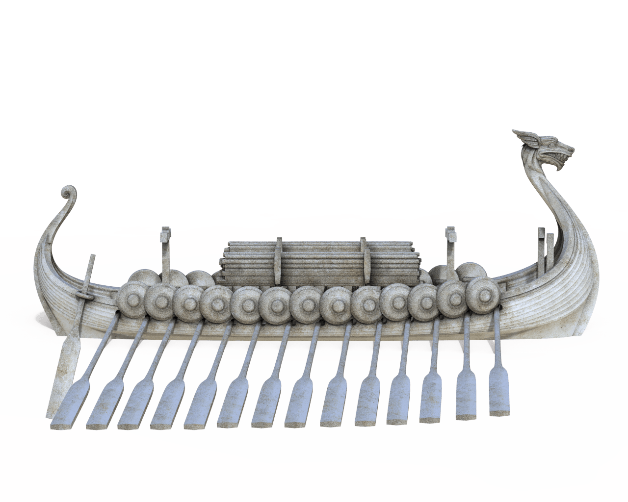 3d Printable Viking Longship Ready To Download And Print