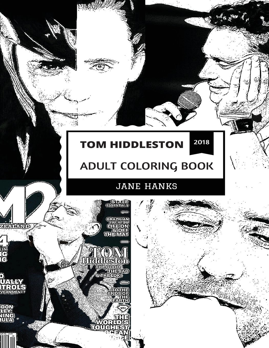 Tom Hiddleston Adult Coloring Book Loki From Marvel