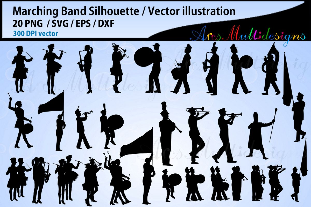 Marching Band Svg Silhouette Bundle Band Svg Bundle