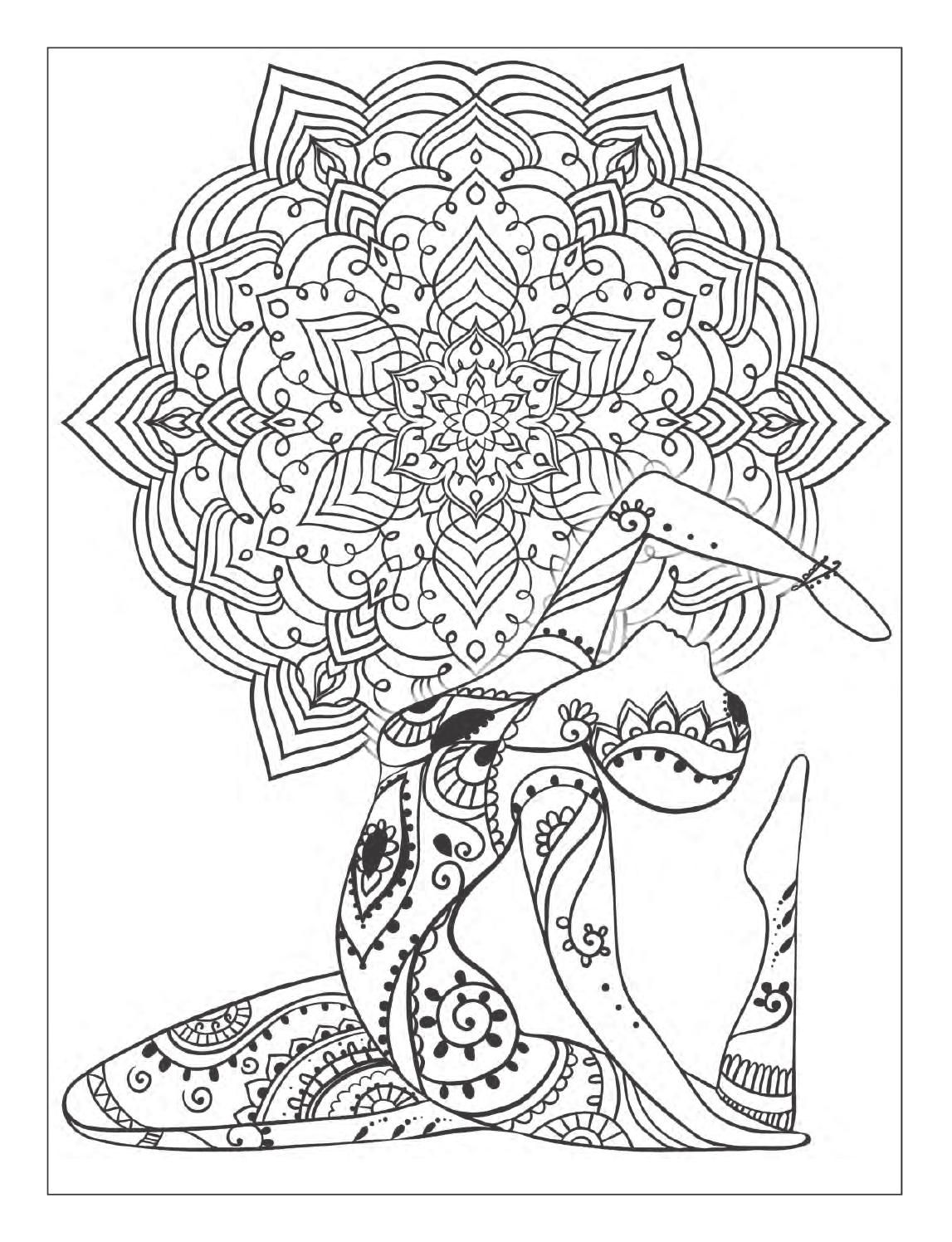 Yoga And Meditation Coloring Book For Adults With Yoga Poses And Neo Coloring