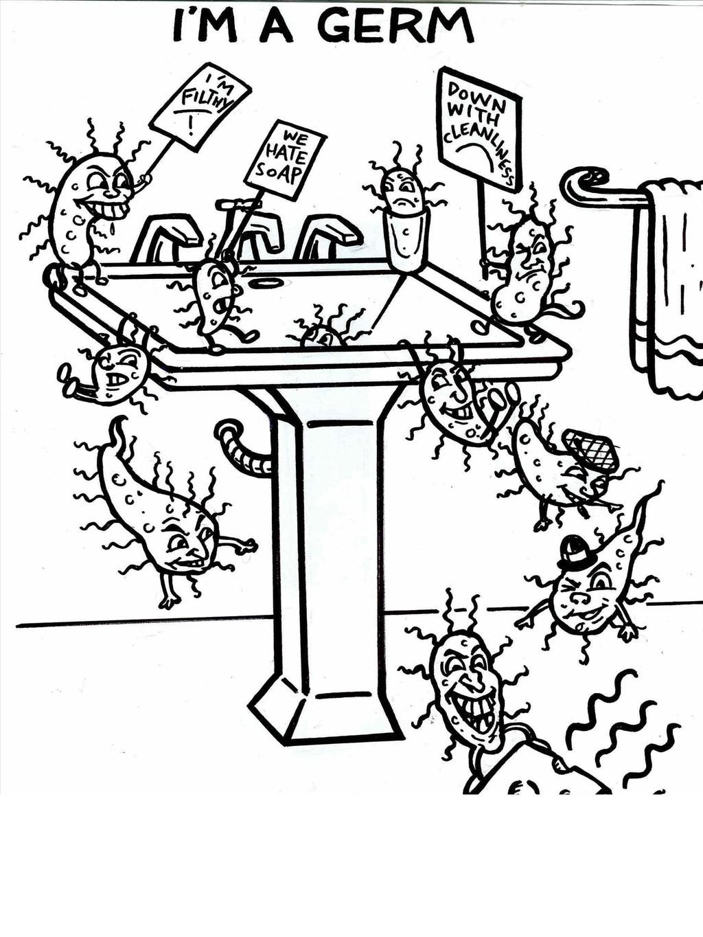 Handwashing Coloring Pages