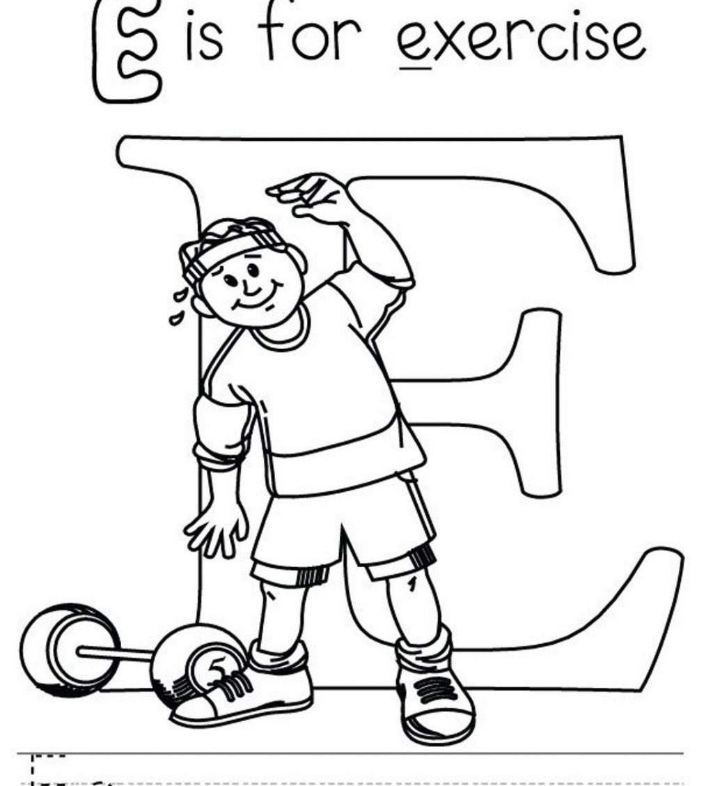 Exercise Coloring Pages Printable