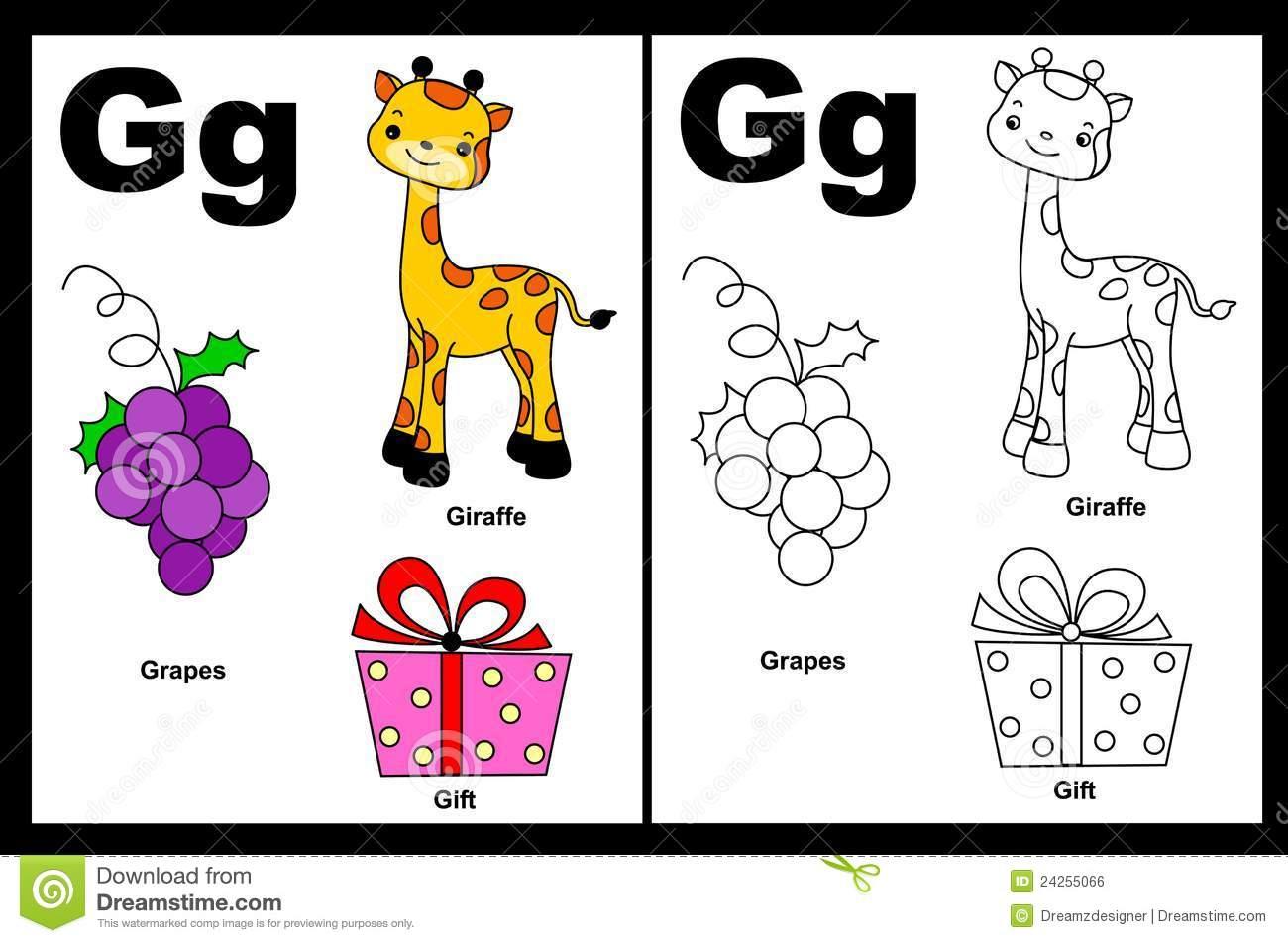 Letter G Worksheet Stock Vector Illustration Of Activity