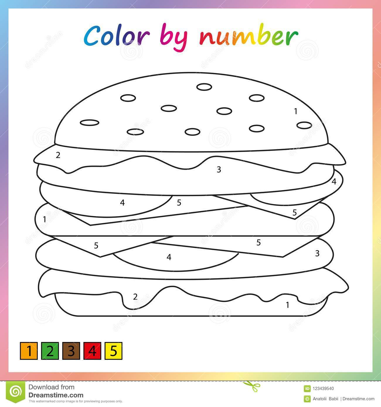 Color By Number Food