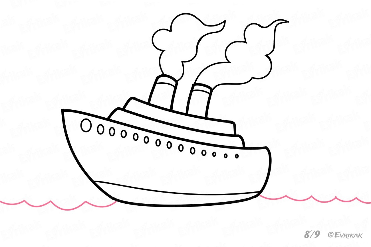 How To Draw A Steamboat
