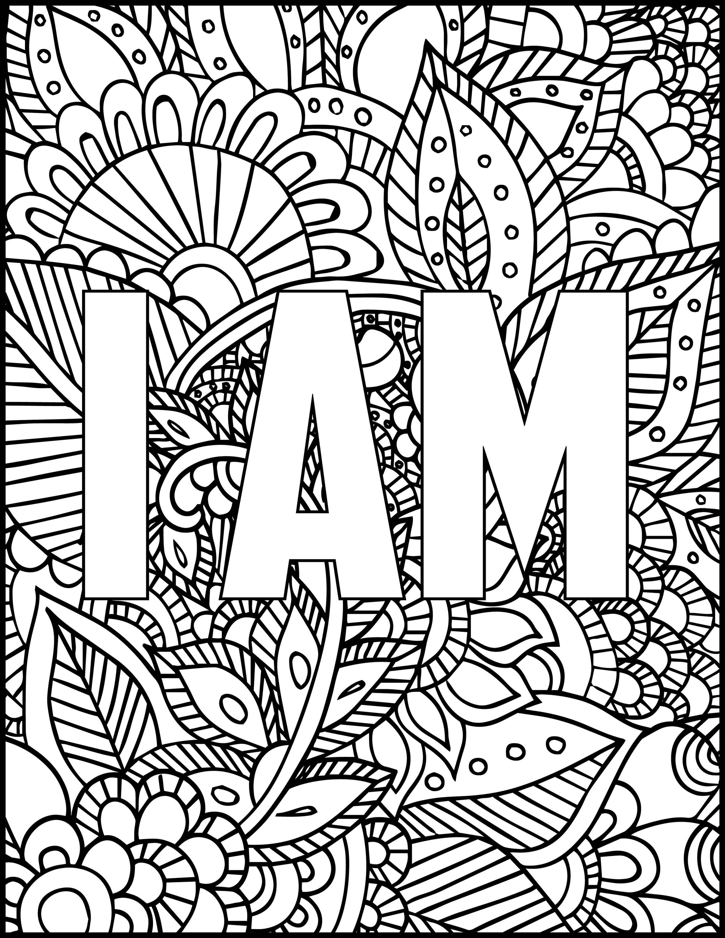 5 Printable Coloring Pages I Am Coloring Bundle Coloring