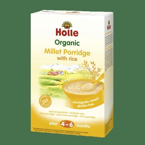 Holle Organic Millet Porridge wholegrain cereal from 6 months