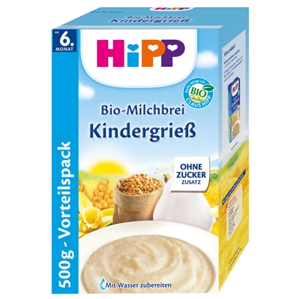 Hipp BIO Milk Cereal Semolina