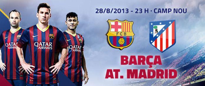 barcelona vs atletico madrid supercopa 2013