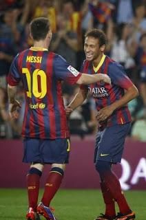 messi y neymar gol barcelona 2013