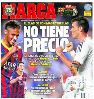 Barcelona vs. Real Madrid 2013 portada marca
