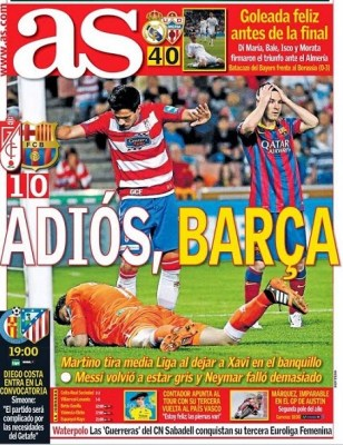 Portada diario AS 13/04/2014