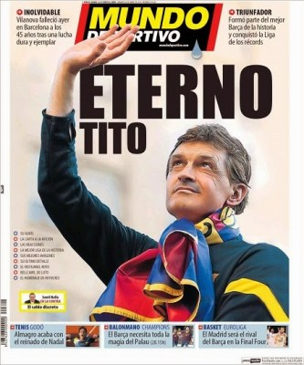 Portada Mundo deportivo Muere Tito Vilanova