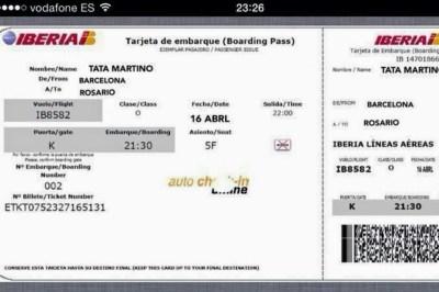 Tarjeta de embarque del Tata Martino memes futbol copa rey barcelona rosario
