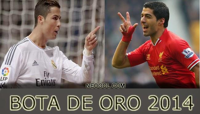 Cristiano Ronaldo y Luis Suárez Bota de Oro 2014