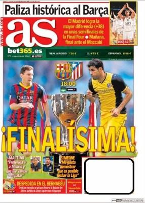 Portada diario AS 17/05/2014