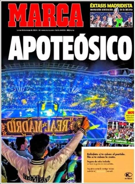 Portada Marca festejos Champions League 2014