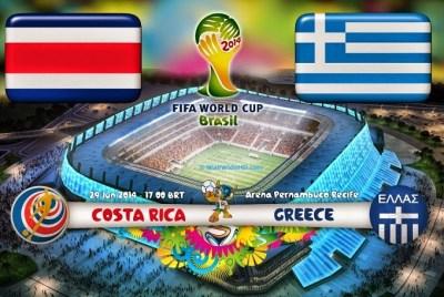 Alineación y la previa Costa Rica-Grecia. Octavos de final