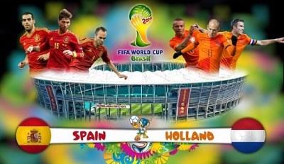 Alineación y la previa España-Holanda. Grupo B