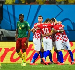 Camerún 0-Croacia 4. Mundial Brasil-Grupo A