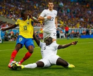Ecuador 0-Francia 0. Mundial Brasil-Grupo E