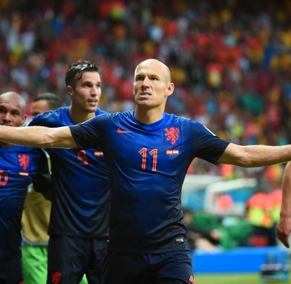 España 1-5 Holanda Mundial Brasil 2014