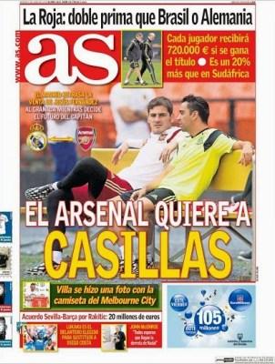 El Arsenal quiere a Casillas