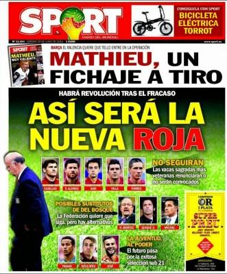 Portada Marca eliminacion españa mundial brasil inglaterra uruguay suarez
