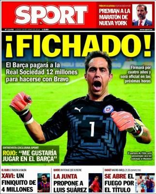 Portada Sport: España eliminada del Mundial Brasil 2014