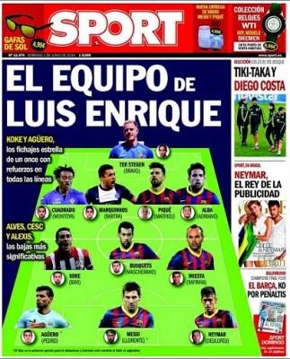 Portada Sport 1 junio 2014