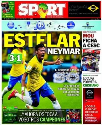 Portada Sport Mundial Brasil 2014