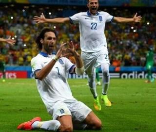 Grecia 2-Costa Marfil 1. Mundial Brasil-Grupo C smaras gol