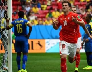 Suiza 2-Ecuador 1. Mundial Brasil-Grupo E