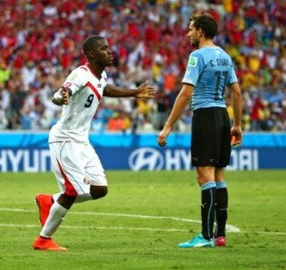 Uruguay 1-Costa Rica 3. Mundial Brasil-Grupo D